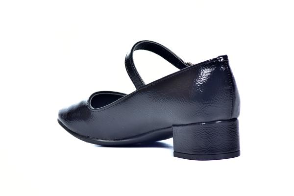 Sapato Boneca Aberto Saltinho Preto - Sizes: 30 - 31 - 32